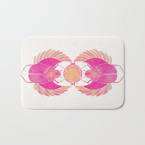 Egyptian Scarab – Pink Ombré Bath Mat