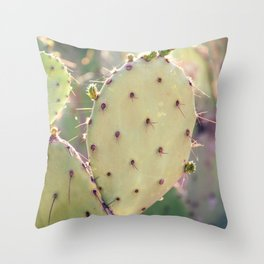 Prickly Pear Closeup Throw Pillow