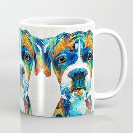 Colorful Boxer Dog Art By Sharon Cummings Coffee Mug