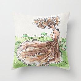 Empire of Mushrooms: Schizophyllum commune Throw Pillow