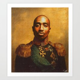 Tupac General Portrait Painting | Hip Hop Fan Art Art Print
