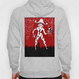 Retro vintage harlequin clown music cover Hoody