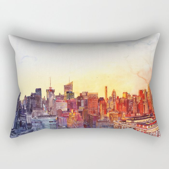 Sunshine in NYC Rectangular Pillow