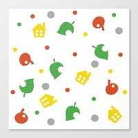 animal crossing Canvas Prints featuring Animal Crossing by Bradley Bailey