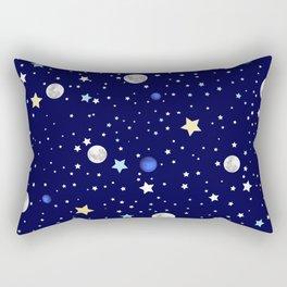 Universe pattern; Moon, Stars and Neptune Rectangular Pillow