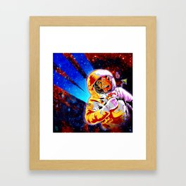 SPACE CHIMP Framed Art Print