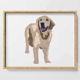 Golden Retriever dog Serving Tray