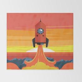Deco Rocket Throw Blanket