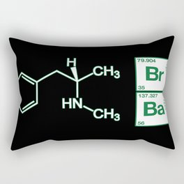 Breaking Bad Methamphetamine Black Rectangular Pillow