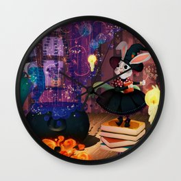 Ms. Bunny the witch Wall Clock