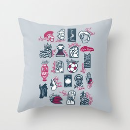Italy in 20 regions Throw Pillow