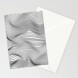 Abstract Wave Lines Stationery Cards