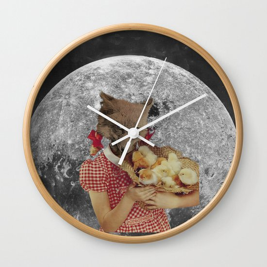 Counting chickens Wall Clock