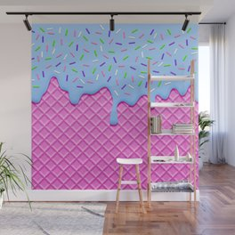 Psychedelic Ice Cream Wall Mural