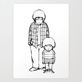 me and i Art Print