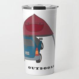 Camping Outdoors Digital Art Travel Mug