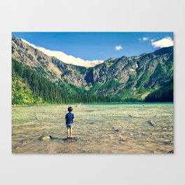 Avalanche Lake, Montana Canvas Print