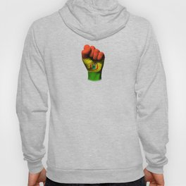 Bolivian Flag on a Raised Clenched Fist Hoody