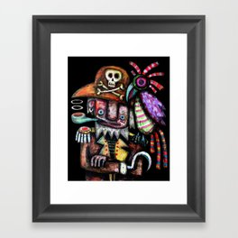 Old Pirate Framed Art Print