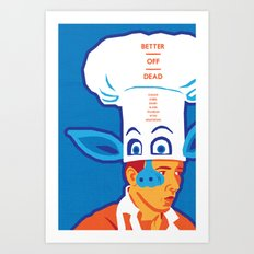 80s TEEN MOVIES :: BETTER OFF DEAD Art Print
