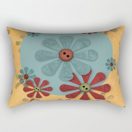 Country Flowers Rectangular Pillow