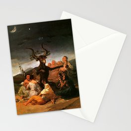 The Sabbath of witches - Goya Stationery Cards