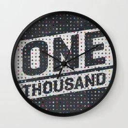 One Thousand Wall Clock