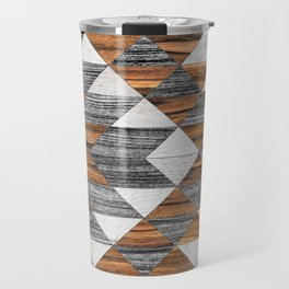 Urban Tribal Pattern 12 - Aztec - Wood Travel Mug