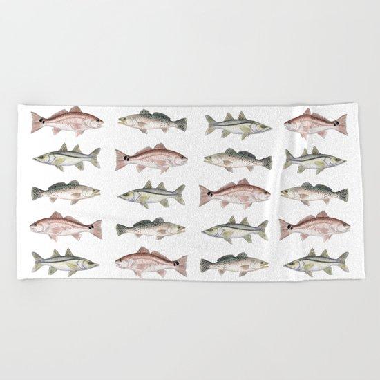 Pattern: Inshore Slam ~ Redfish, Snook, Trout Beach Towel