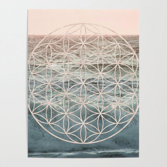Mandala Flower of Life Sea by cascadia