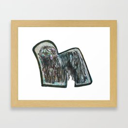 Alphabet Doggie Letters Framed Art Print