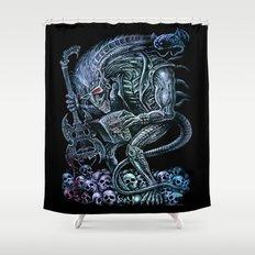 Alien Punk Rocker Outer Space Monster  Shower Curtain
