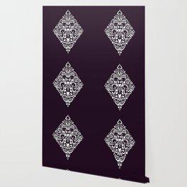 white damask rhombus Wallpaper