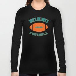 Miami Football Long Sleeve T-shirt