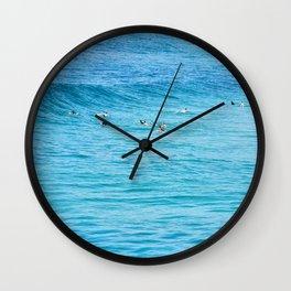 Ten Men One Wave Wall Clock