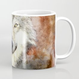 Wolf Animal Wild Nature-watercolor Illustration Coffee Mug