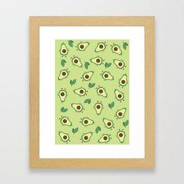 Happy Avocados Framed Art Print