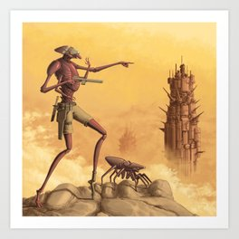 Scouting the Badlands Art Print