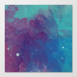 Watercolor night sky Canvas Print