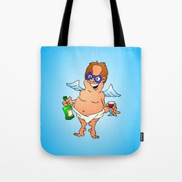 Angel  having a glass of wine Tote Bag