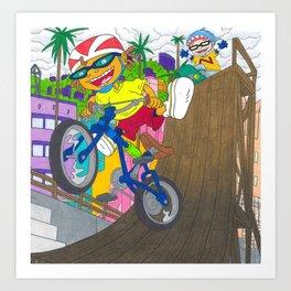 Rocket Power Nickelodeon Otto Rocket Sam Dullard Art Print