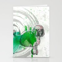poodle Stationery Cards featuring Poodle by Pfirsichfuchs