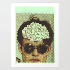 the human brain Art Print