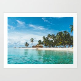 Huts on the San Blas Islands, Panama Art Print