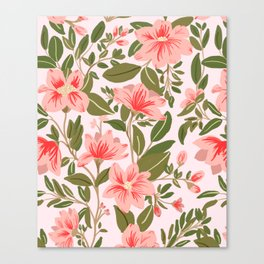 Pink Botanical Dream Pattern Canvas Print