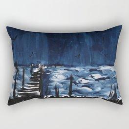 Seaside Pier Rectangular Pillow