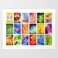 Beeings from Universe Art Print