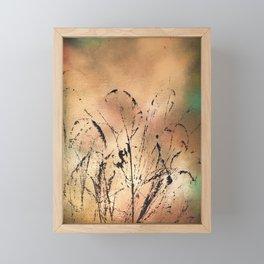 Spray Paint and String Framed Mini Art Print