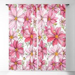 Pink Spring Flower Pattern Blackout Curtain