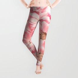 Lovely Pink Daisies Leggings